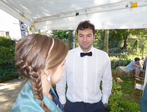vlecht bruidsmeisje